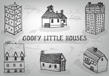 Free Hand Drawn Goofy Houses Vector Background - Free vector #347137