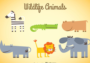 Wildlife Animals Sets - Free vector #347357