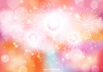 Abstract Bokeh and Glitter Background Illustration - Free vector #347427