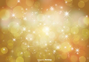 Abstract Bokeh and Glitter Background Illustration - Free vector #347437