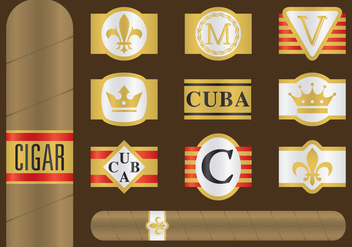 Cigar Label Vectors - Free vector #347447