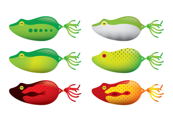 Frog Fishing Lure Vectors - бесплатный vector #347457