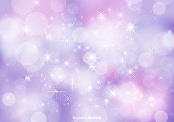 Abstract Bokeh and Glitter Background Illustration - Free vector #347477