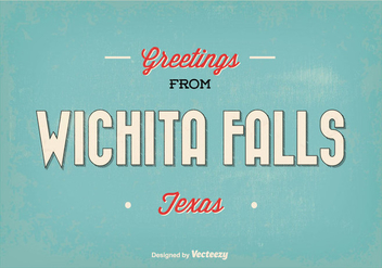 Retro Wichita Falls Greeting Illustration - Kostenloses vector #347487