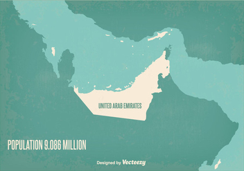 Vintage UAE Map Illustration - vector #347497 gratis