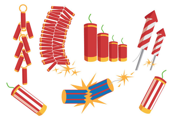 Fire Crackers Vectors - vector gratuit #347547