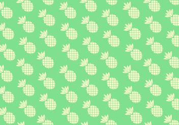 Seamless Solid Color Pineapple Pattern - vector gratuit #347567