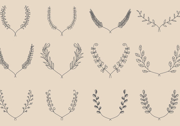 Hand Made Wreath Vectors - Free vector #347627