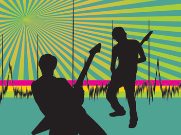 Musician Starburst Party Background - бесплатный vector #347667