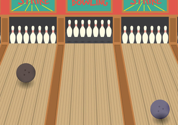 Bowling Alley Vector - бесплатный vector #348097