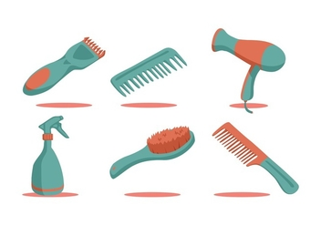 FREE BARBER TOOLS VECTOR - бесплатный vector #348127
