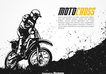 Free Motocross Vector Background - vector gratuit #348137