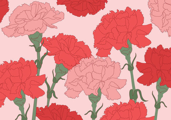 Carnation Vector Background - Kostenloses vector #348157