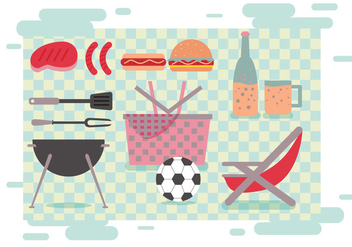 Family Picnic Vectors - бесплатный vector #348177