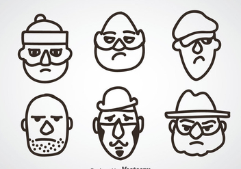 Robber Face Sets - Free vector #348227