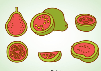 Guava Cartoon Vector - vector gratuit #348267