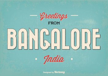 Bangalore India Greeting Illustration - бесплатный vector #348307
