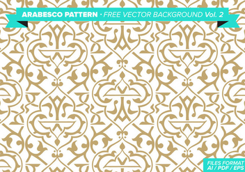 Arabesco Pattern Free Vector Background Vol. 2 - vector #348807 gratis