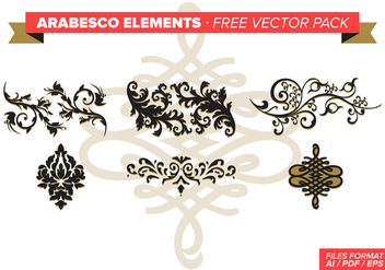 Arabesco Elements Free Vector Pack - Free vector #348827