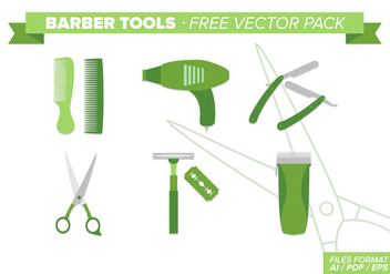 Barber Tools Free Vector Pack - vector #348837 gratis