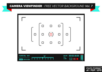 Camera Viewfinder Free Vector Background Vol. 7 - бесплатный vector #348847