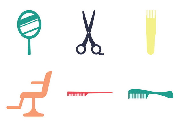Free Barber Tools Vector Illustration - Free vector #348977