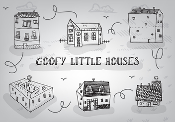Free Hand Drawn Goofy Houses Vector Background - Free vector #349057