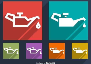 Oil Change Symbol Vectors - бесплатный vector #349067