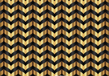 Gold And Black Chevron Pattern - Free vector #349187