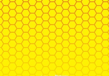 Yellow Honeycomb Background - vector gratuit #349197