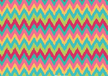 Retro Colors Chevron Pattern - Free vector #349207
