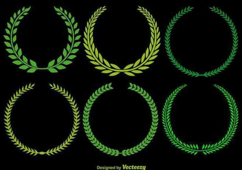 Olive Wreath Vectors - Free vector #349287