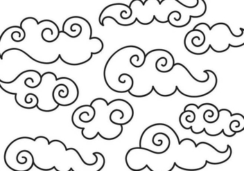 Free Chinese Clouds II Vectors - бесплатный vector #349307