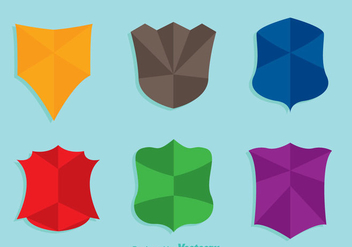 Shield Shape Colors Icons - vector #349357 gratis