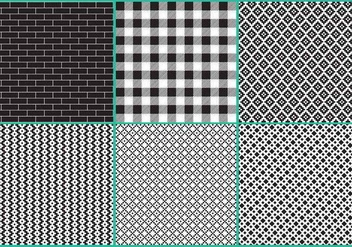 Black And White Block Patterns - vector gratuit #349367