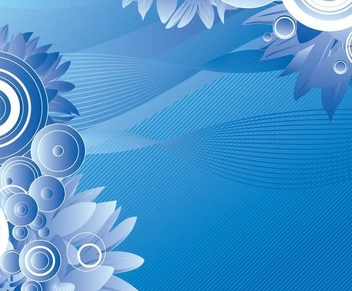 Flowers Circles Abstract Waves Background - Kostenloses vector #349427