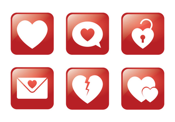Heart Square Icon - Kostenloses vector #349487