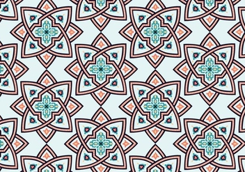 Star Moroccan Pattern Background - vector gratuit #349547