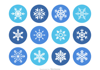 Free Vector Snowflakes - Free vector #349597
