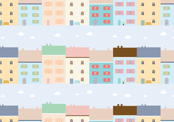 Buildings Pattern Background Vector - Free vector #349607