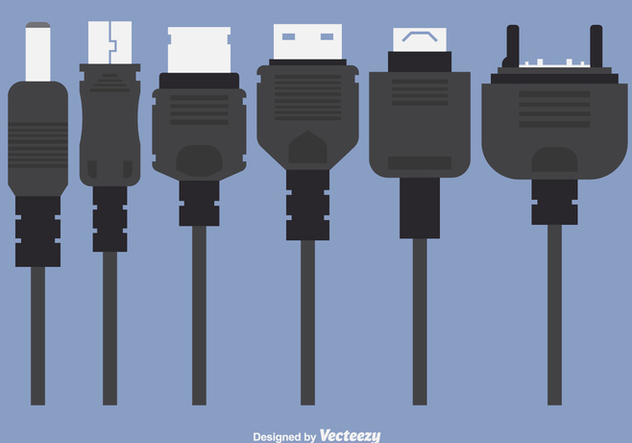 Phone Charger Plugs Vectors - Free vector #349647