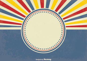 Retro Style Sunburst Vector Background - Free vector #349697