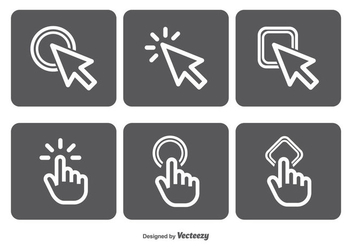 Mouse Click Vector Icon Set - vector #349817 gratis