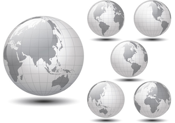 Glossy World Map - Kostenloses vector #349837