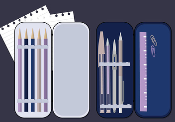 Vector Pencil Case Illustration - бесплатный vector #349957