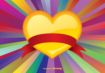 Colorful Heart Vector Background - Kostenloses vector #350037