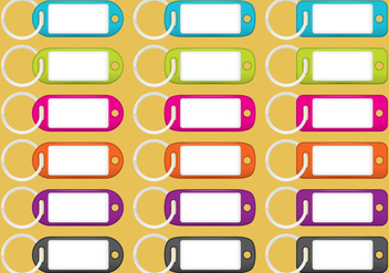 Colorful Key Holders - vector gratuit #350047
