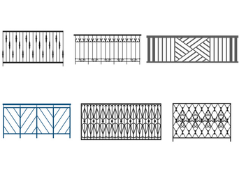 Steel Balcony Rails - бесплатный vector #350067