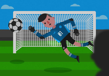 Vector Goalkeeper - vector gratuit #350087