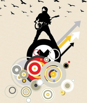 Man Playing Guitar Music Background - vector #350177 gratis